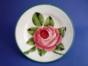 Small Wemyss Ware 'Cabbage Rose' Plate c1910